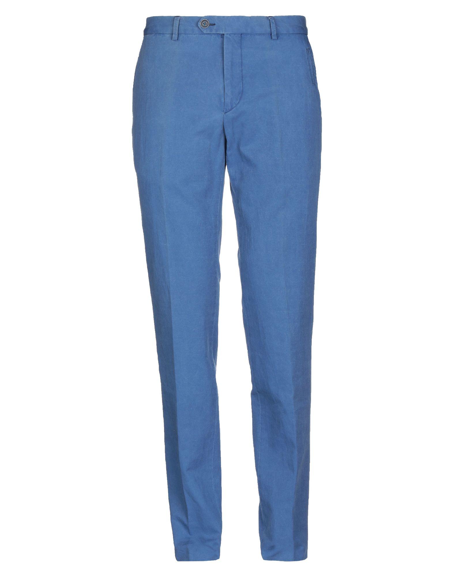 《セール開催中》BERRY & BRIAN メンズ パンツ パステルブルー 32 コットン 78% / リネン 22%