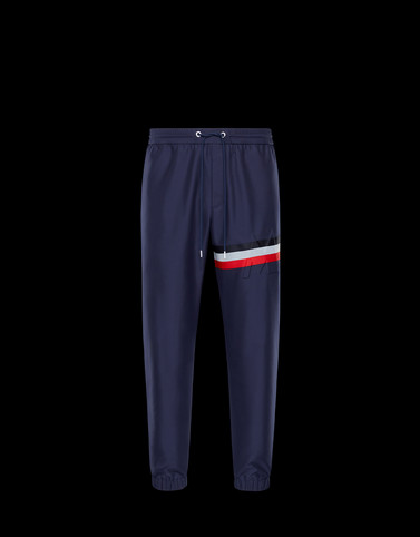 ATHLETIC TROUSERS Dark blue Trousers Man