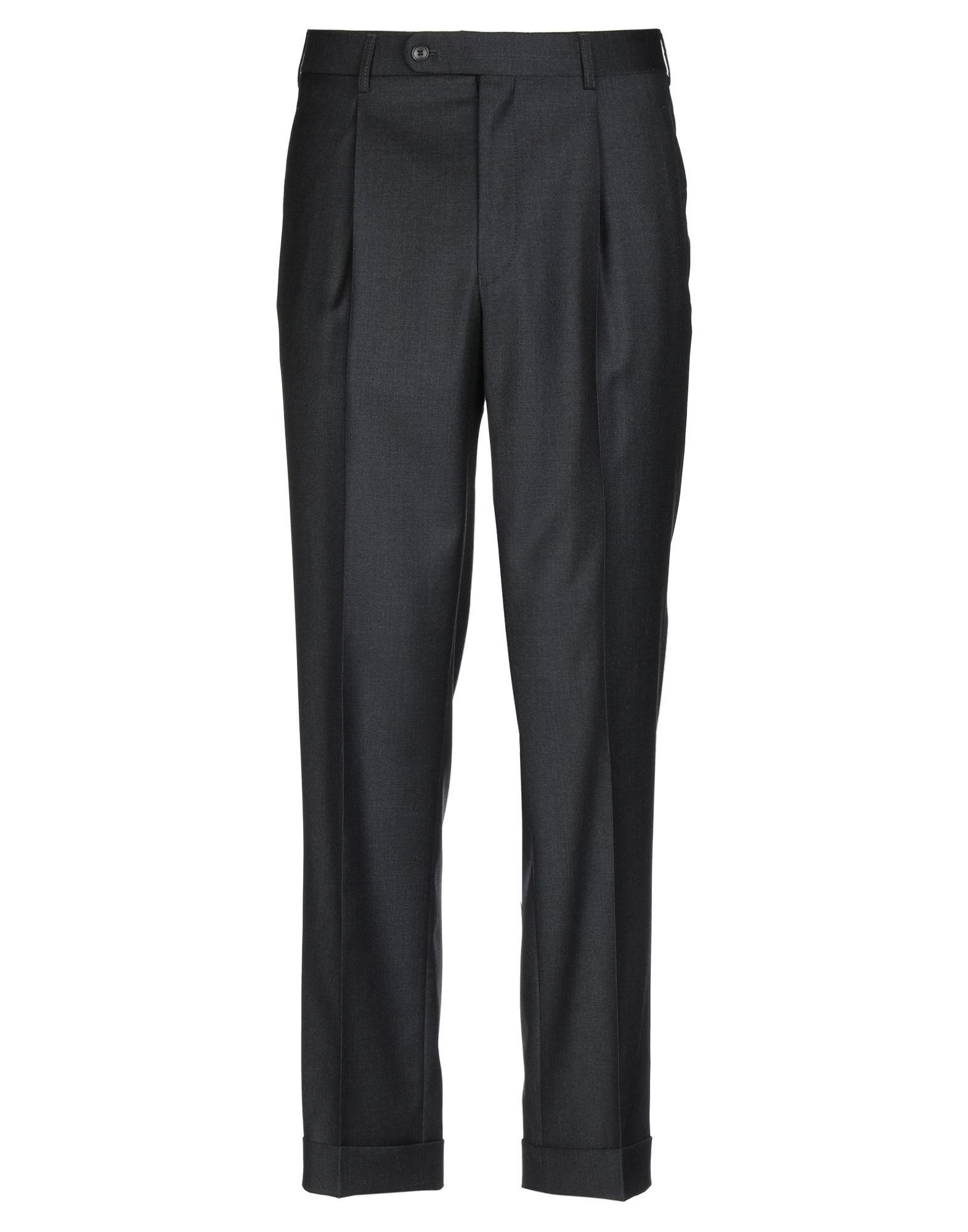 《セール開催中》HILTL メンズ パンツ スチールグレー 52 ウール 100%