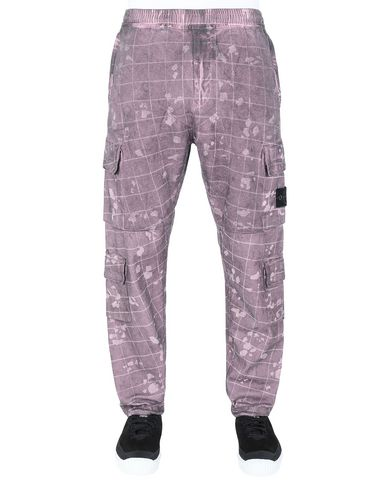 STONE ISLAND 317E2 DUST COLOUR WITH GHILLIE LASER CAMO Trousers Man Magenta EUR 469