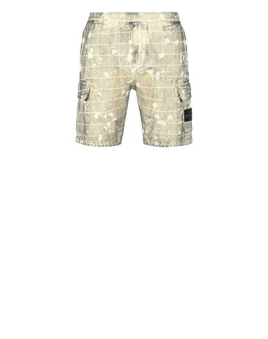STONE ISLAND L01E2 DUST COLOUR WITH GHILLIE LASER CAMO Bermuda shorts Man Butter EUR 235