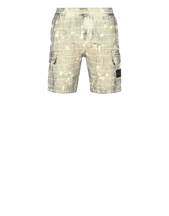 STONE ISLAND L01E2 DUST COLOUR WITH GHILLIE LASER CAMO Bermuda shorts Man Butter