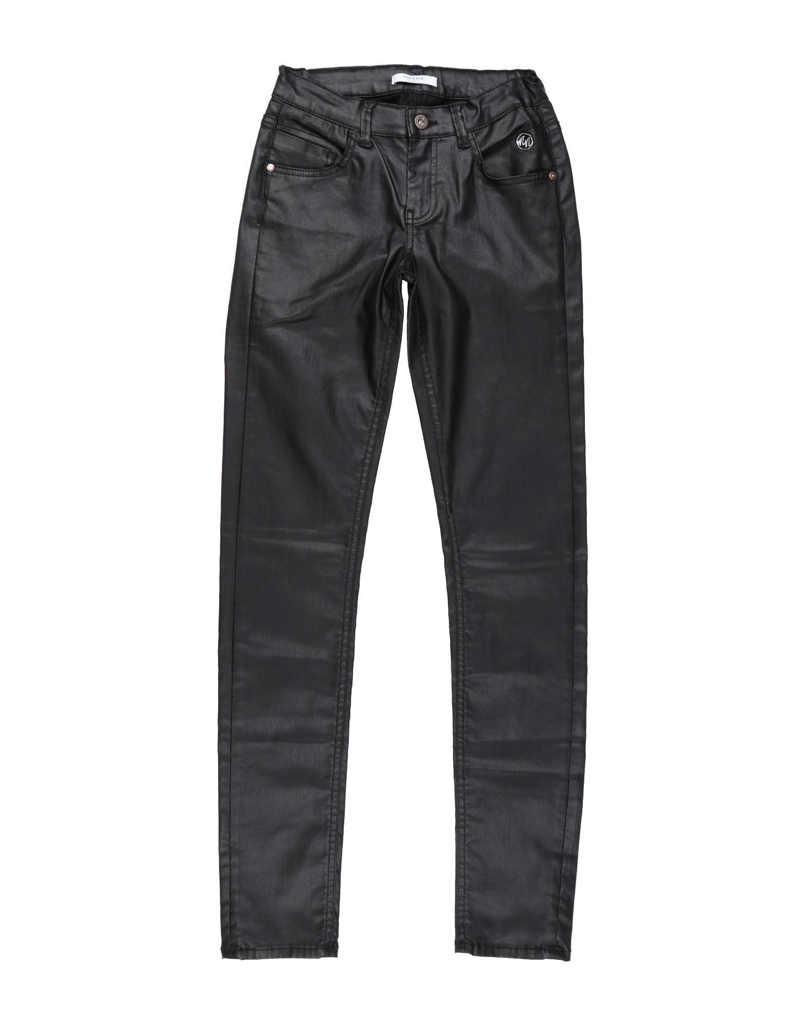 Nik & Nik Kids' Casual Pants In Black