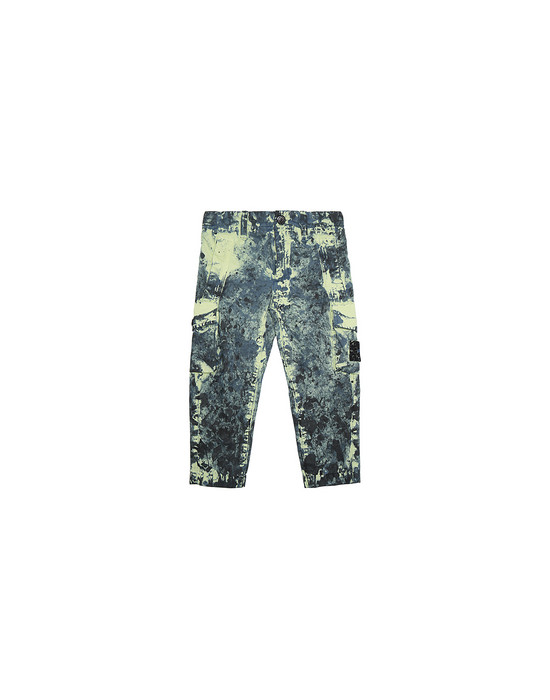 Trousers Man 30638 PAINTBALL CAMO COTTON CANVAS Front STONE ISLAND BABY