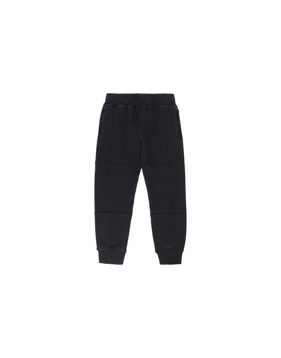 STONE ISLAND JUNIOR 61142 Fleece Trousers Man Black