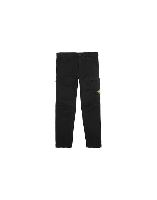 STONE ISLAND JUNIOR 30814 Trousers Man Black