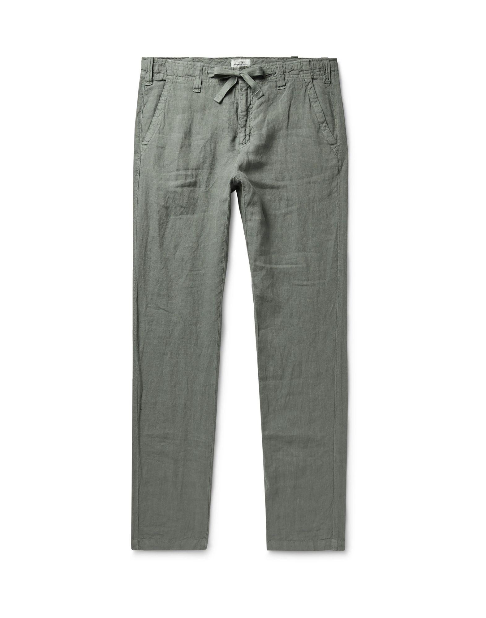 《セール開催中》HARTFORD メンズ パンツ ミリタリーグリーン 48 リネン 100%