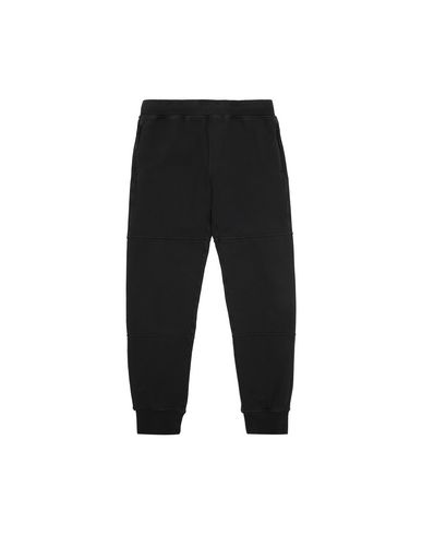 STONE ISLAND JUNIOR 61142 Fleece Pants Man Black USD 122
