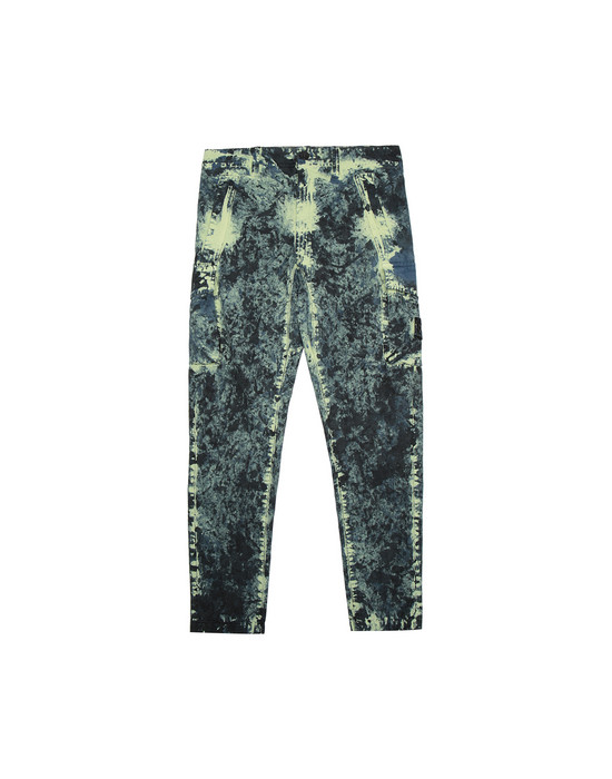 Trousers Man 30638 PAINTBALL CAMO COTTON CANVAS Front STONE ISLAND JUNIOR