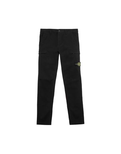 STONE ISLAND JUNIOR 30814 Trousers Man Black EUR 172