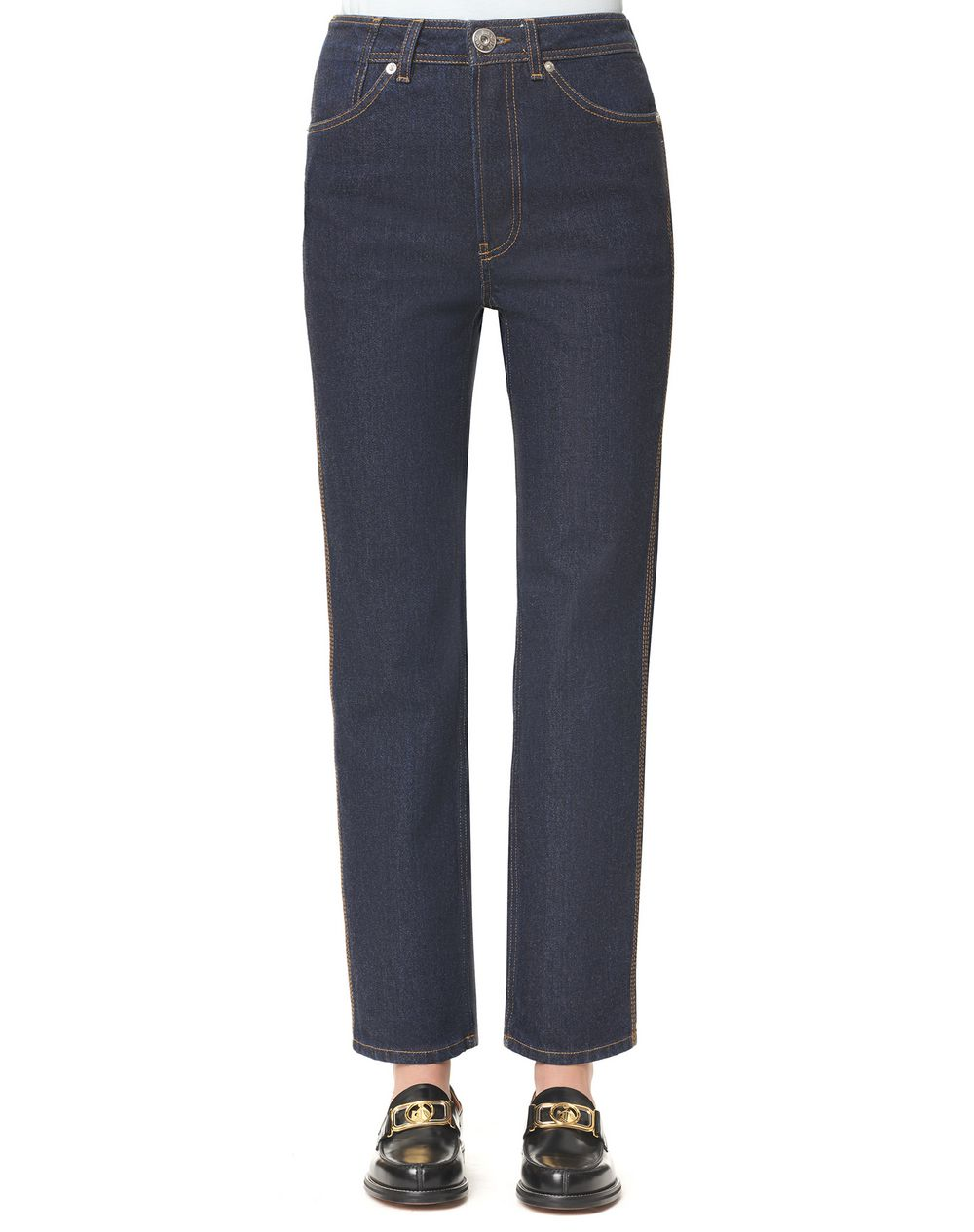 High-waisted denim trousers - Lanvin
