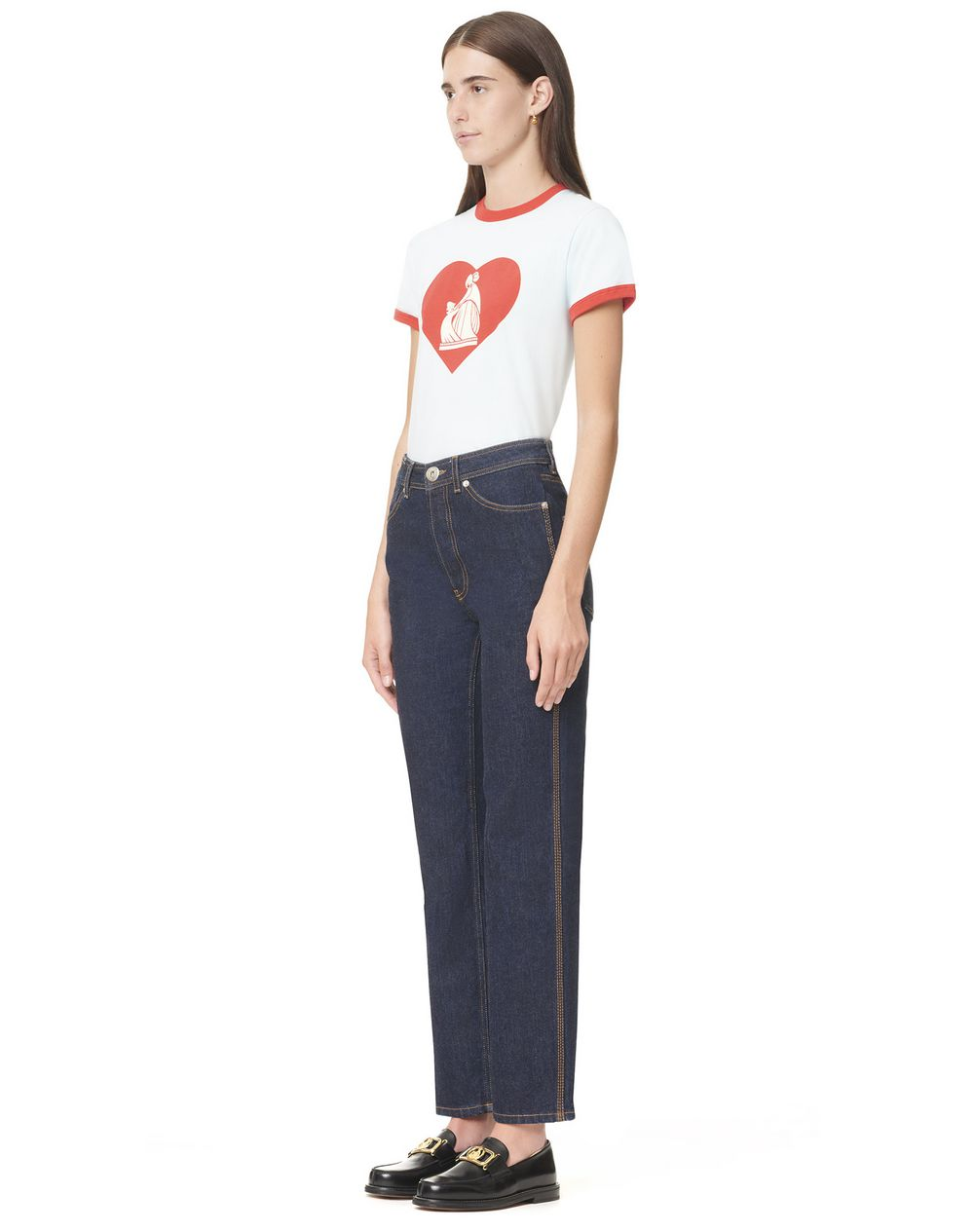 High-waisted denim pants - Lanvin