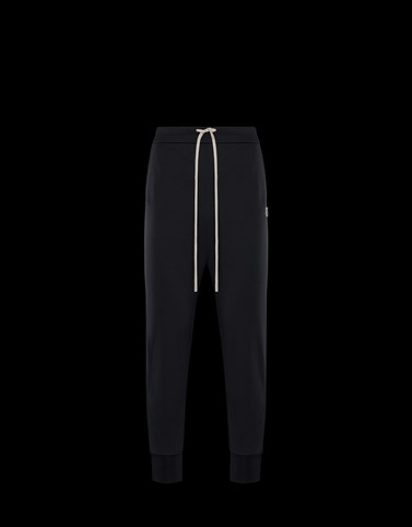 CASUAL TROUSER Black Moncler Rick Owens Woman