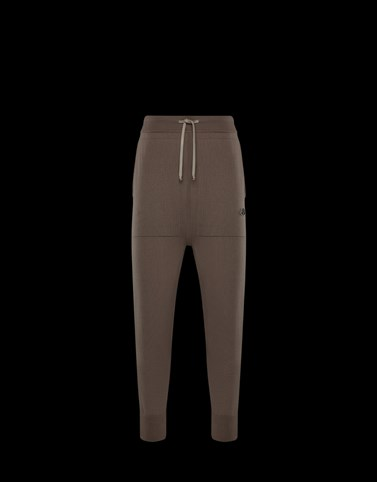 CASUAL TROUSER Light grey Moncler Rick Owens Woman