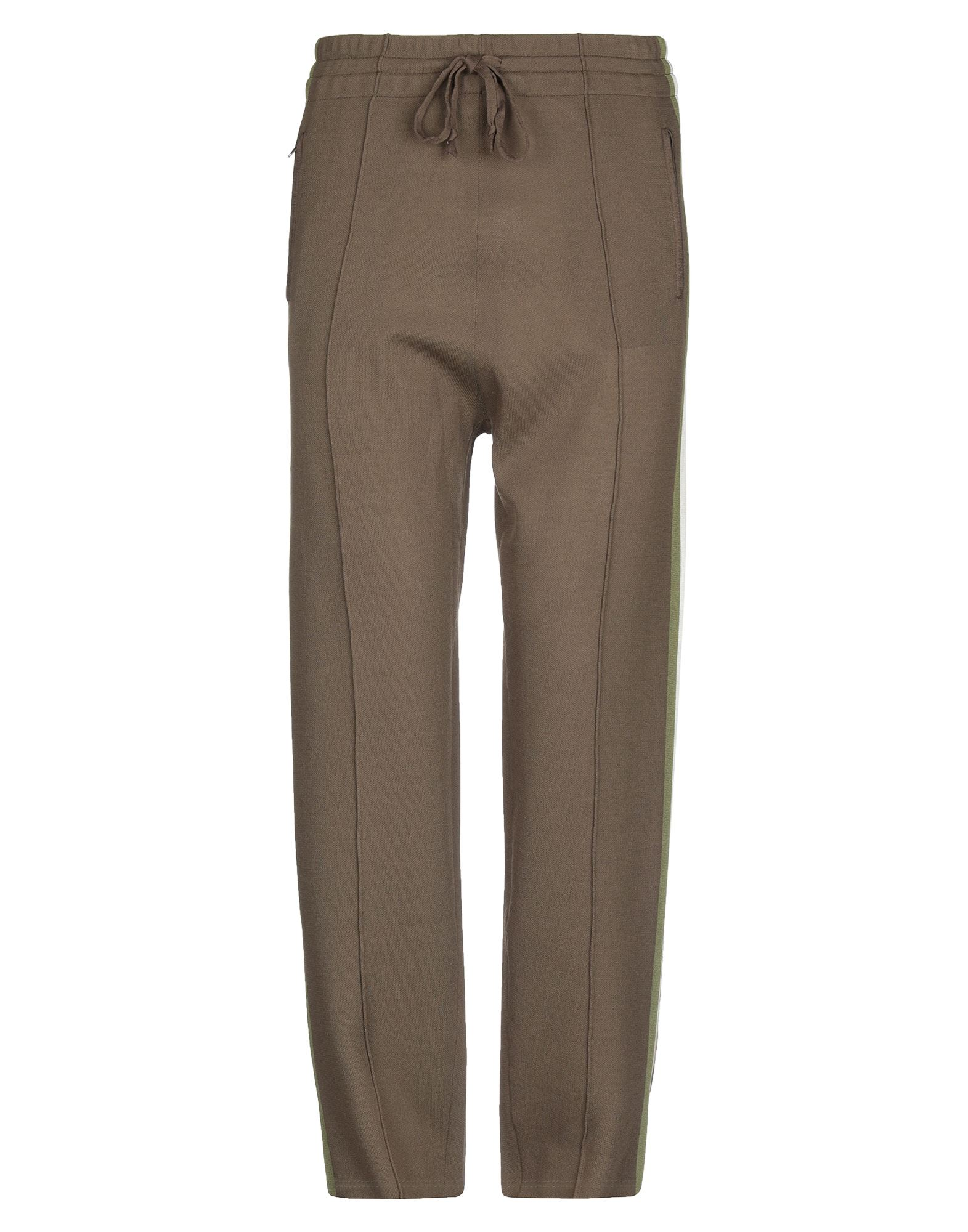 ISABEL MARANT Casual pants. knitted, solid color, side seam stripes, lightweight knit, mid rise, comfort fit, tapered leg, drawstring closure, multipockets, zips at hem. 58% Viscose, 23% Polyamide, 19% Polyester