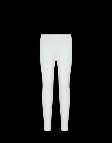 LEGGINGS Bianco New in Donna