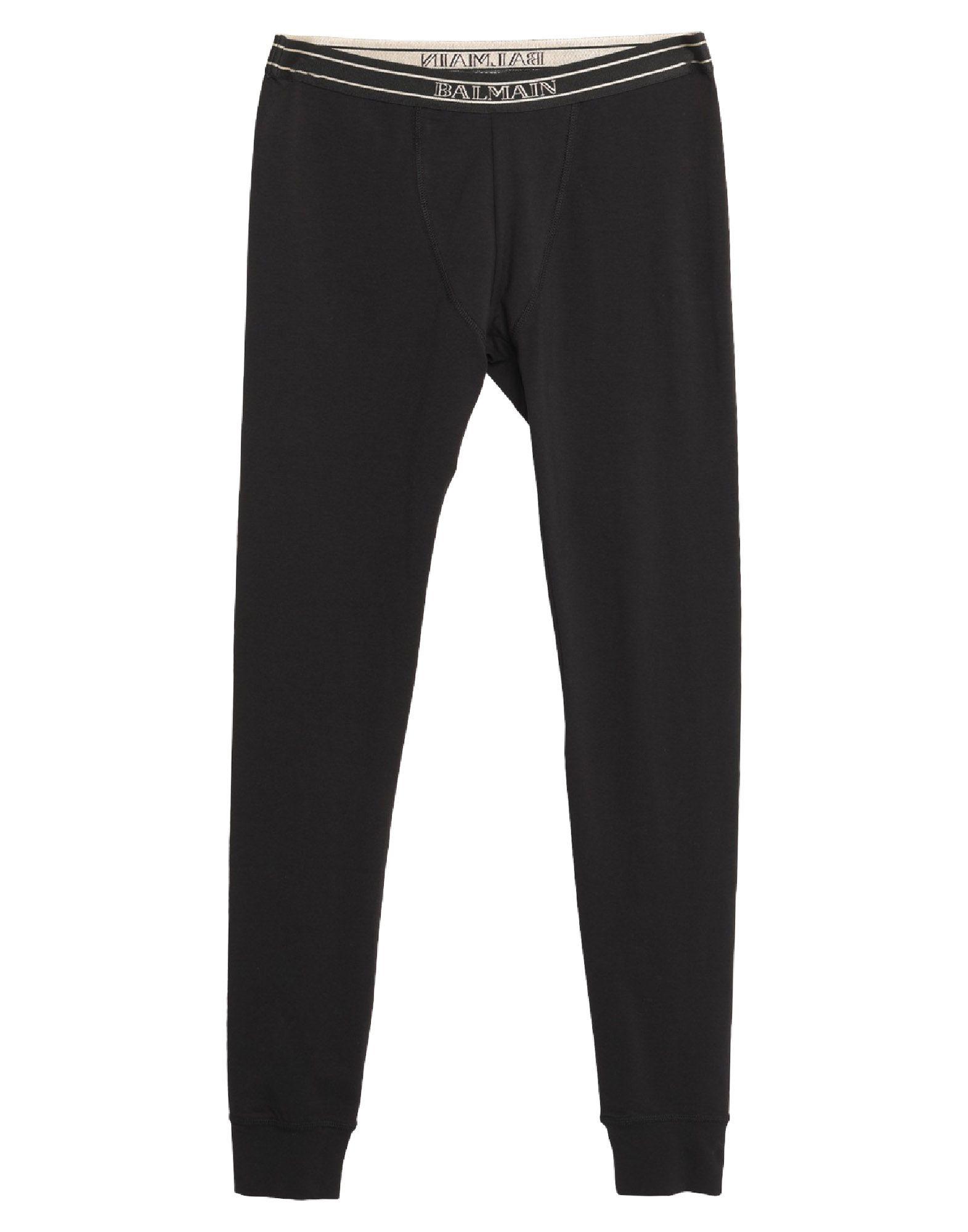 BALMAIN Leggings. jersey, solid color, logo, low waisted, slim fit, tapered leg, elasticized waist, no pockets, stretch. 94% Cotton, 6% Elastane