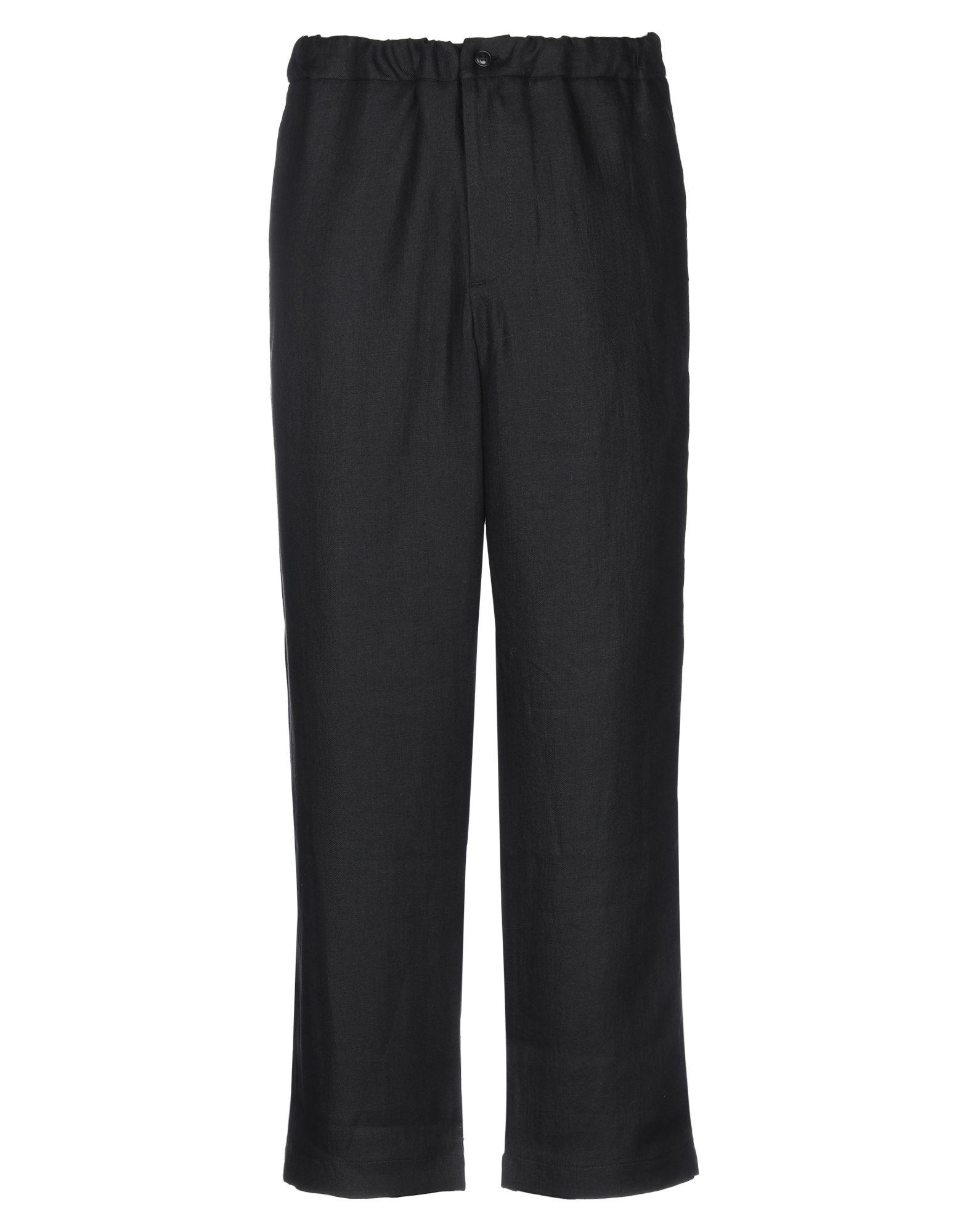 《セール開催中》CAN PEP REY メンズ パンツ ブラック M リネン 100%