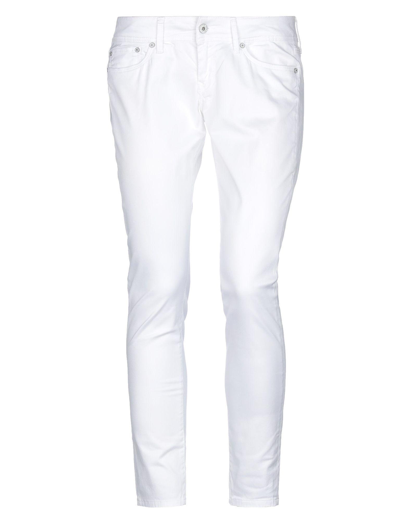 《セール開催中》PEPE JEANS レディース パンツ ホワイト 25W-30L コットン 99% / ポリウレタン 1%