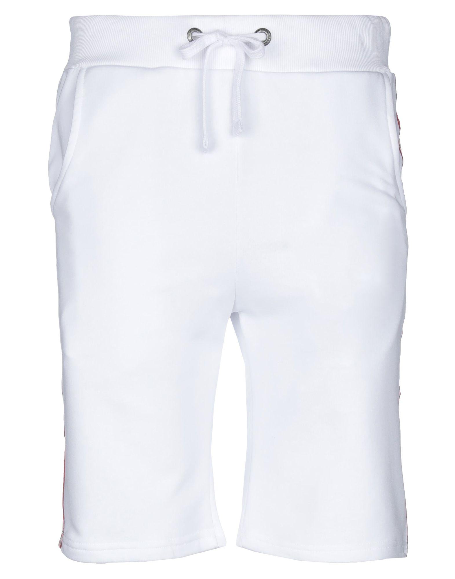 ALPHA INDUSTRIES メンズ ショートパンツ&バミューダ ホワイト