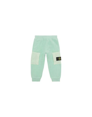 STONE ISLAND BABY 60644 Fleece Trousers Man Light Green EUR 180
