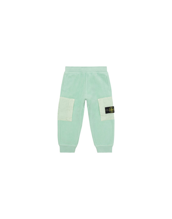 STONE ISLAND BABY 60644 Fleece Trousers Man Light Green