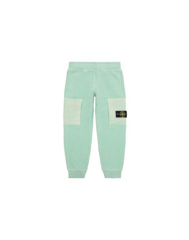 STONE ISLAND KIDS 60644 Fleece Trousers Man Light Green EUR 198
