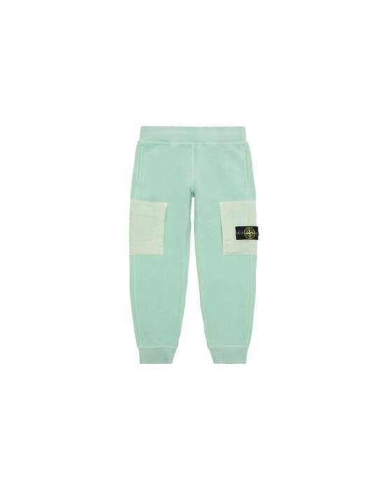 STONE ISLAND KIDS 60644 Fleece Trousers Man Light Green