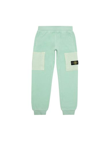 STONE ISLAND JUNIOR 60644 Fleece Trousers Man Light Green EUR 147