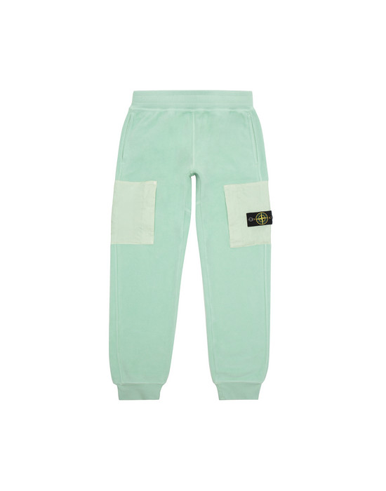 STONE ISLAND JUNIOR 60644 Fleece Pants Man Light Green