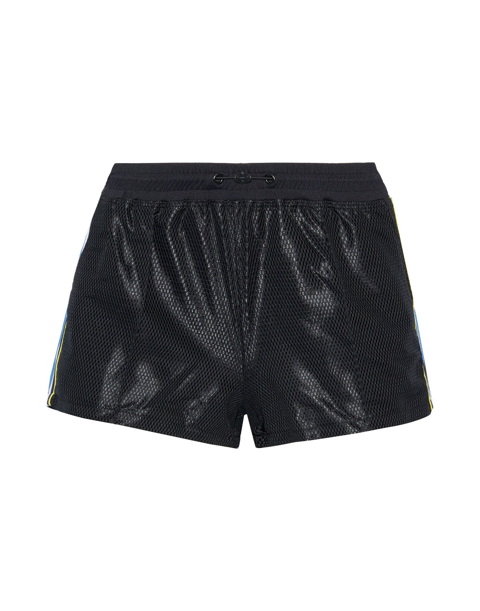 KORAL Shorts. techno fabric, solid color, logo, side seam stripes, mid rise, comfort fit, drawstring closure, multipockets. 100% Polyester, Nylon, Elastane
