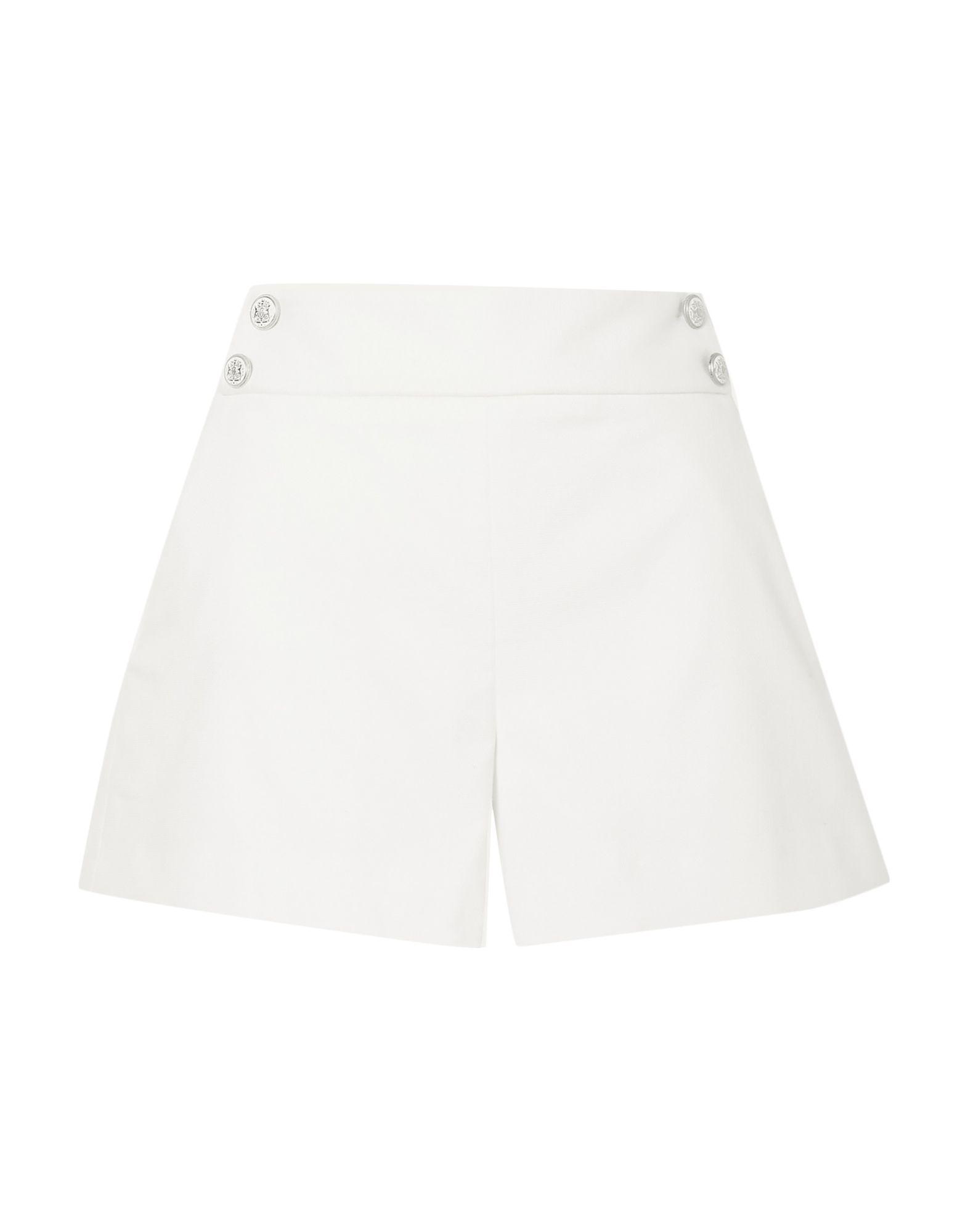 VERONICA BEARD Shorts. canvas, solid color, no appliqués, mid rise, hook-and-bar, zip, multipockets, stretch. 54% Cotton, 43% Modal, 3% Elastane
