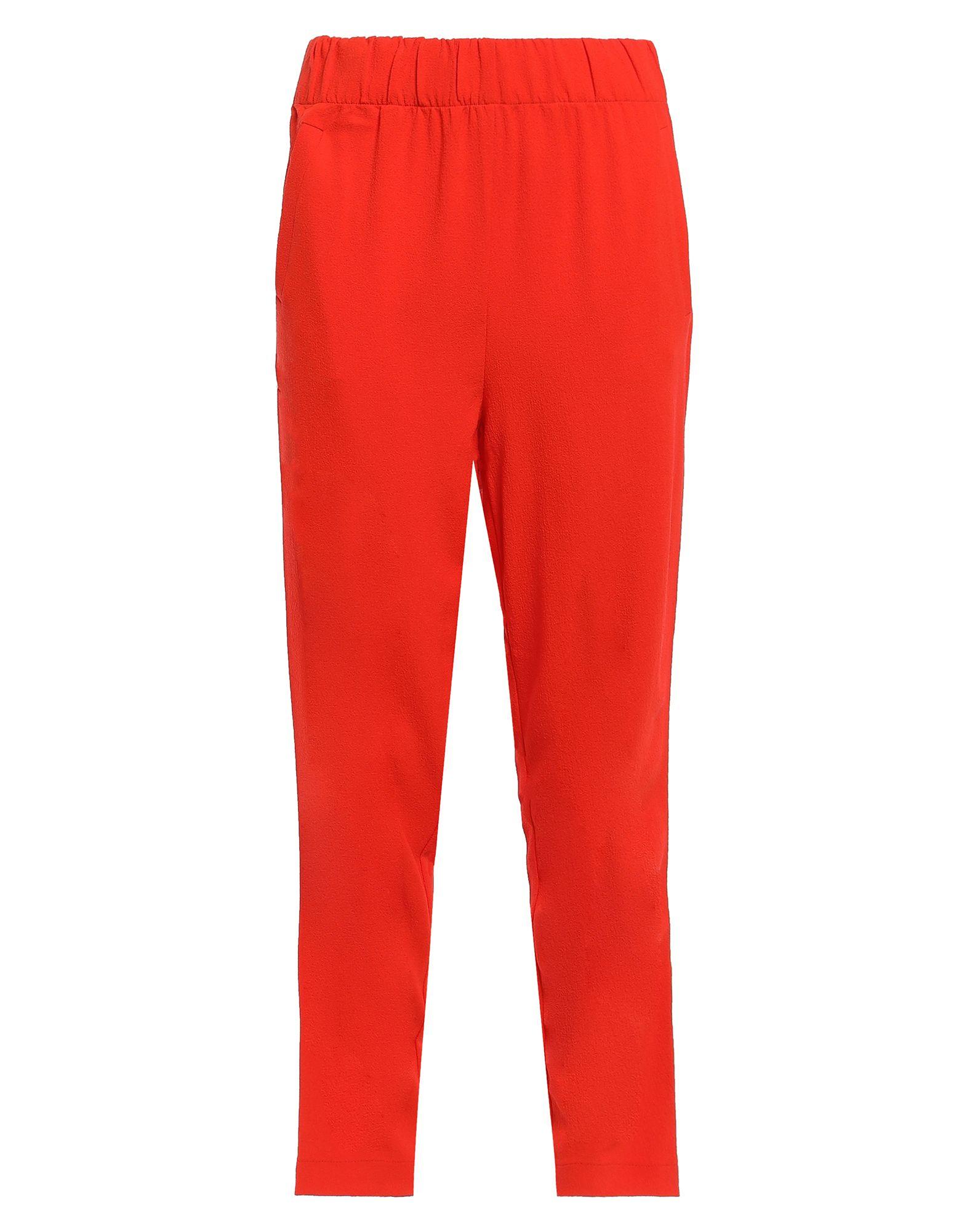 GANNI Casual pants. crepe, basic solid color, no appliqués, high waisted, regular fit, tapered leg, elasticized waist, multipockets, zips at hem, stretch. 97% Polyester, 3% Elastane
