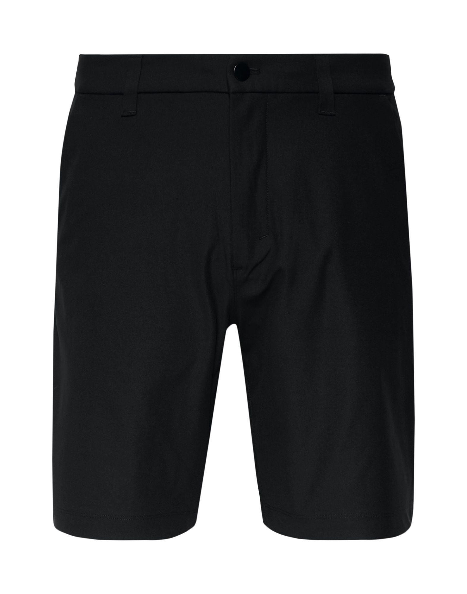 LULULEMON Bermudas. jersey, no appliqués, mid rise, regular fit, basic solid color, button, zip, multipockets. 100% Polyester