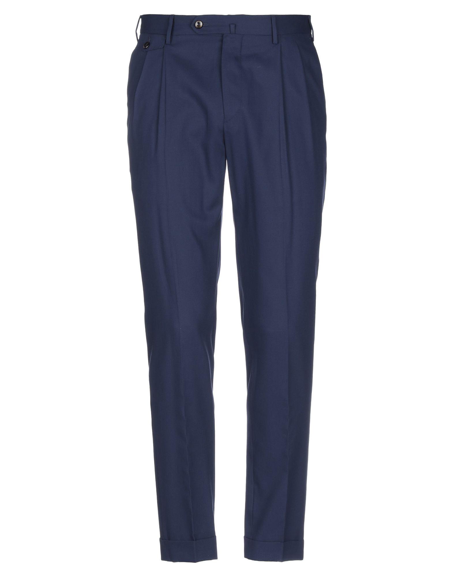 《セール開催中》PT Torino メンズ パンツ ダークブルー 46 コットン 100%