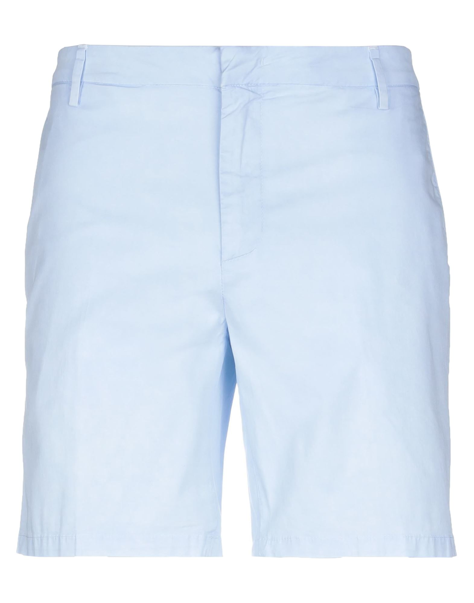 DONDUP Shorts. plain weave, logo, mid rise, button, zip, multipockets, basic solid color, stretch. 96% Cotton, 4% Elastane