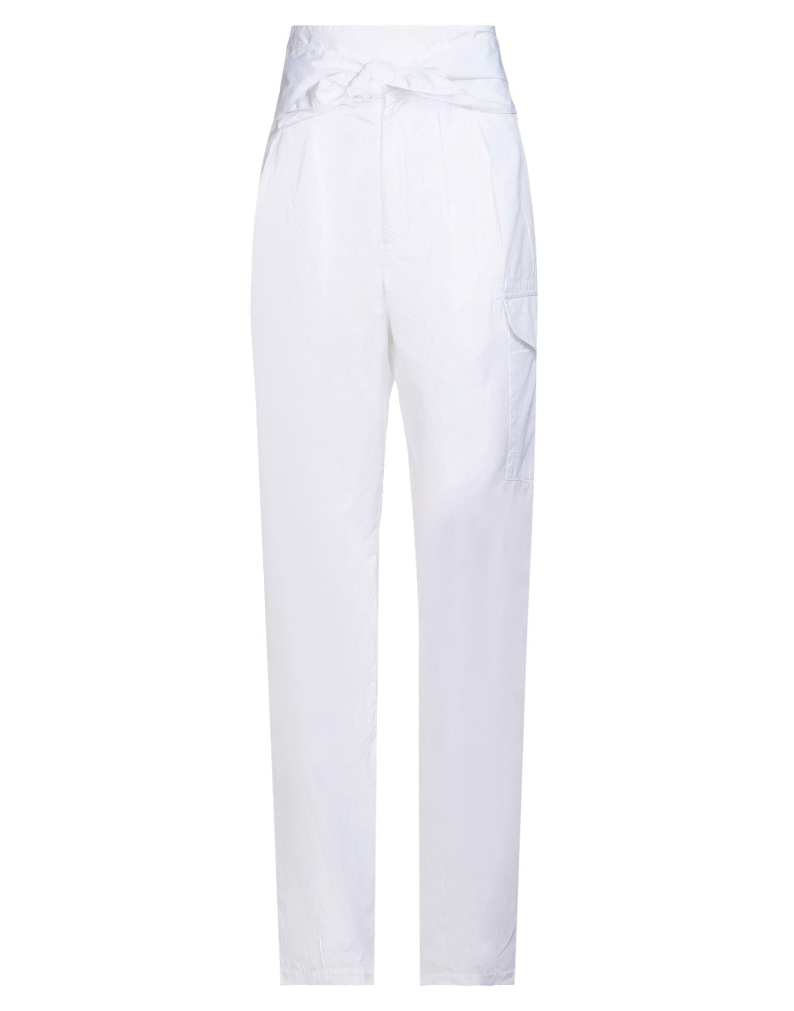 MAURO GRIFONI マウロ グリフォーニ レディース パンツ ホワイト - あんず色