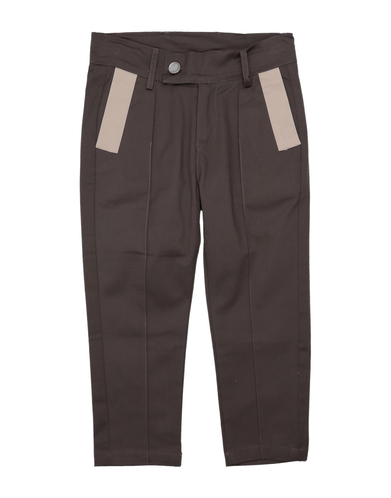 《セール開催中》NUMBERS. ボーイズ 9-16 歳 パンツ ダークブラウン 10 コットン 97% / 指定外繊維(その他伸縮性繊維) 3%