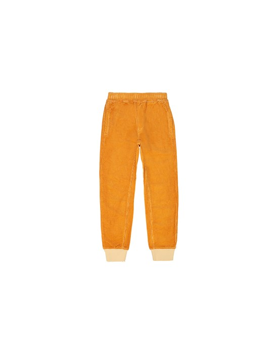 STONE ISLAND KIDS 62445 Fleece Trousers Man Ochre