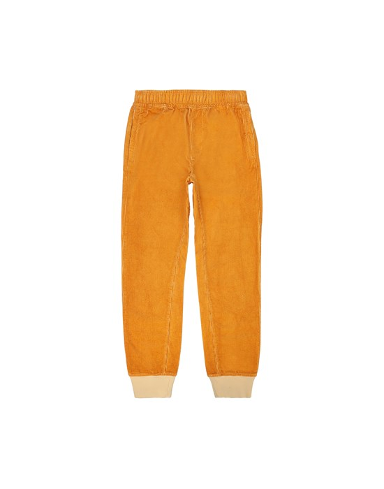 STONE ISLAND JUNIOR 62445 Fleece Trousers Man Ochre