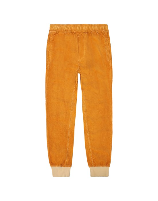 STONE ISLAND JUNIOR 62445 Fleece Pants Man Ochre