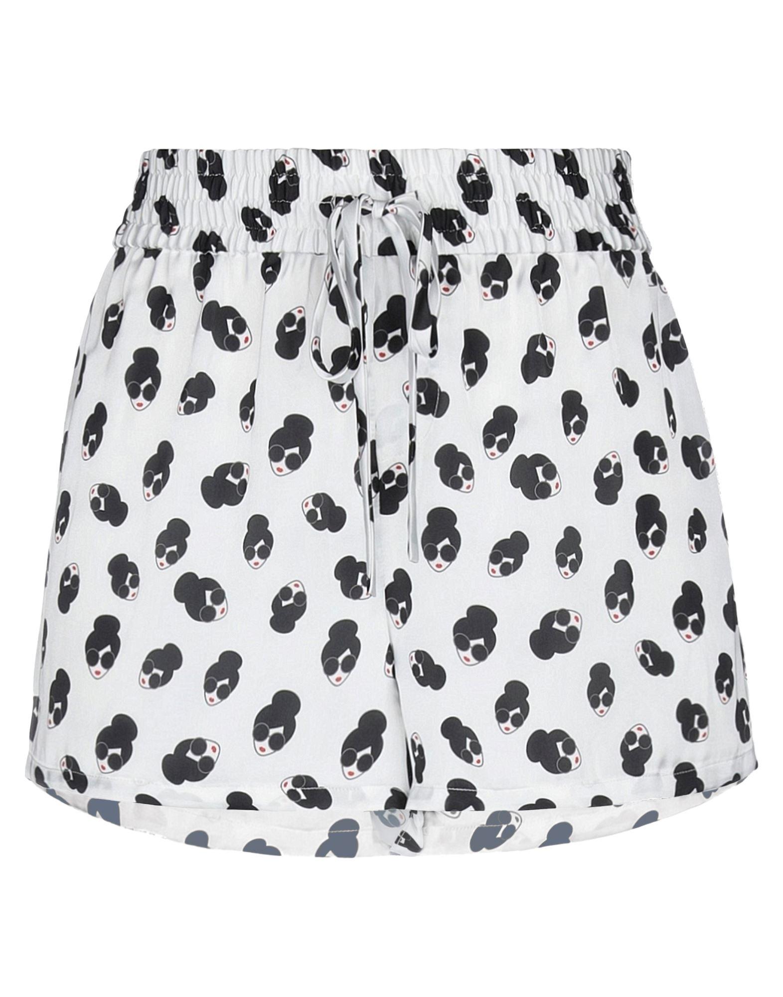 ALICE + OLIVIA Shorts. satin, multicolor pattern, no appliqués, low waisted, drawstring closure, no pockets. 100% Polyester