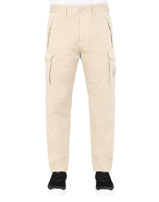 Trousers Man 326F4 GHOST PIECE Front STONE ISLAND