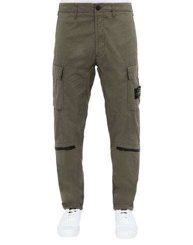 STONE ISLAND 30419 Pants Man Olive Green USD 408