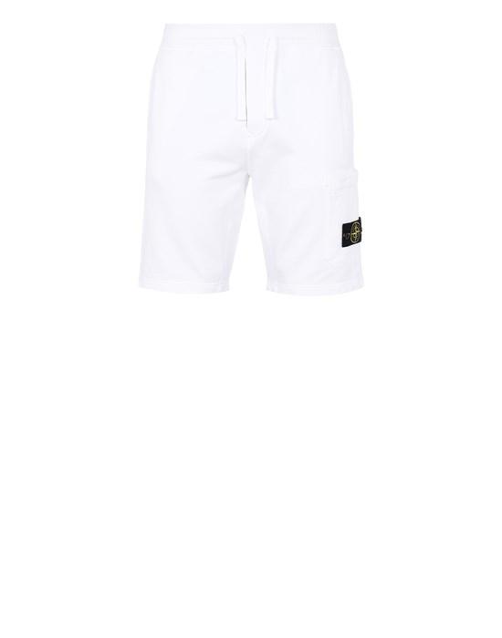 STONE ISLAND 64651 Fleece Bermuda Shorts Man White