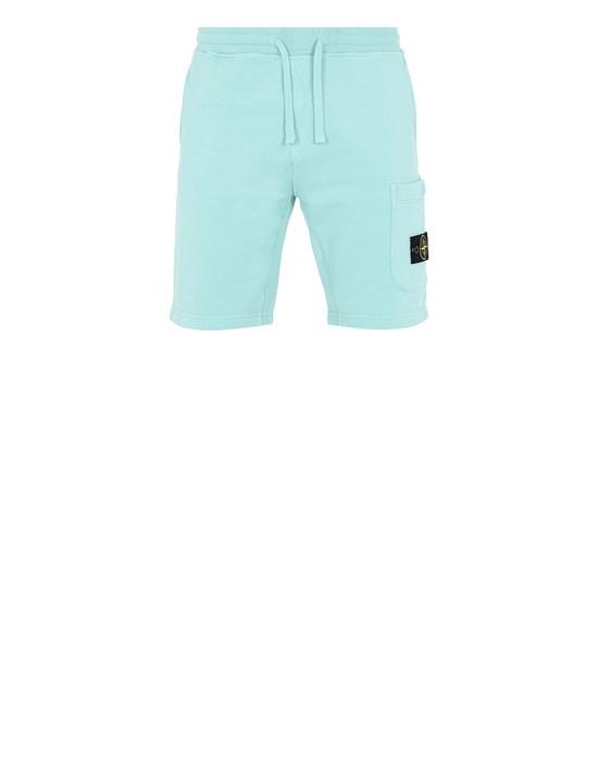 STONE ISLAND 64651 Fleece Bermuda Shorts Man Aqua