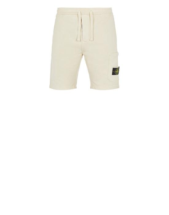 STONE ISLAND 64651 Fleece Bermuda Shorts Man Ivory