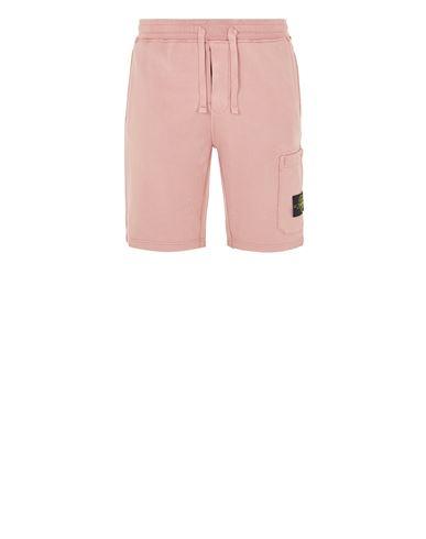 STONE ISLAND 64651 Fleece Bermuda Shorts Man Pink Quartz EUR 199