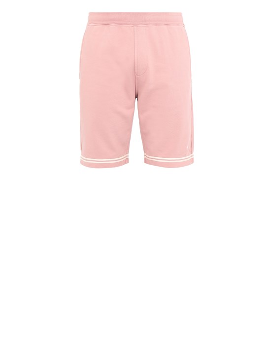 STONE ISLAND 60951 Fleece Bermuda Shorts Man Pink Quartz