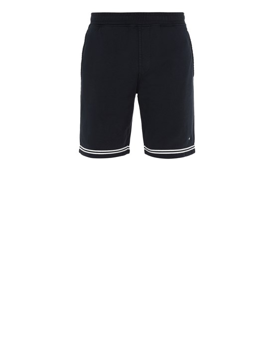 STONE ISLAND 60951 Fleece Bermuda Shorts Man Blue